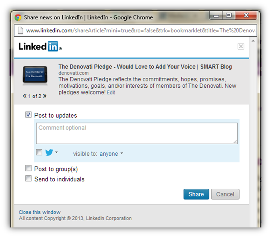 Tech Tip: Installing and Using the LinkedIn Bookmarklet