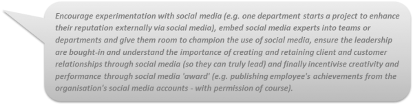 Barriers to Social Media Adoption: quote
